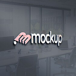 Office 3D Logo Mockup