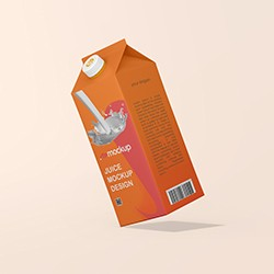 Floating Milk Packaging Mockup