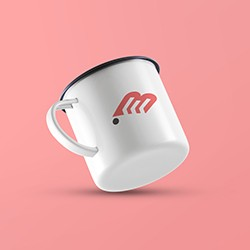 Floating Cup Mockup