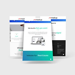 Floating Website Page Mockup