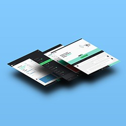 Floating Browser App Mockup