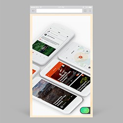 Mobile Browser App Mockup