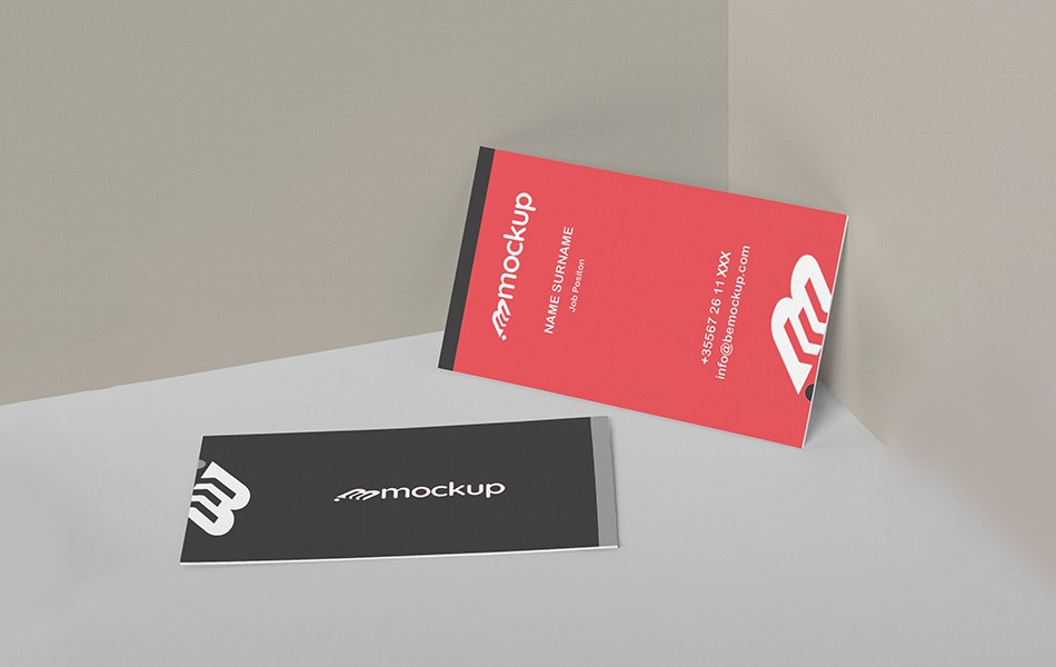 Awesome Vertical Business Card Mockup