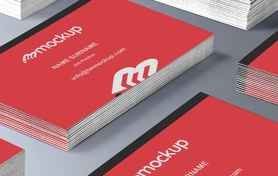 Repeating Business Card Mockup