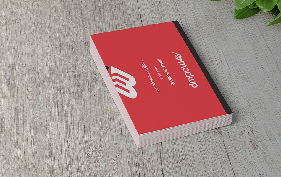 Business Card Wood Mockup