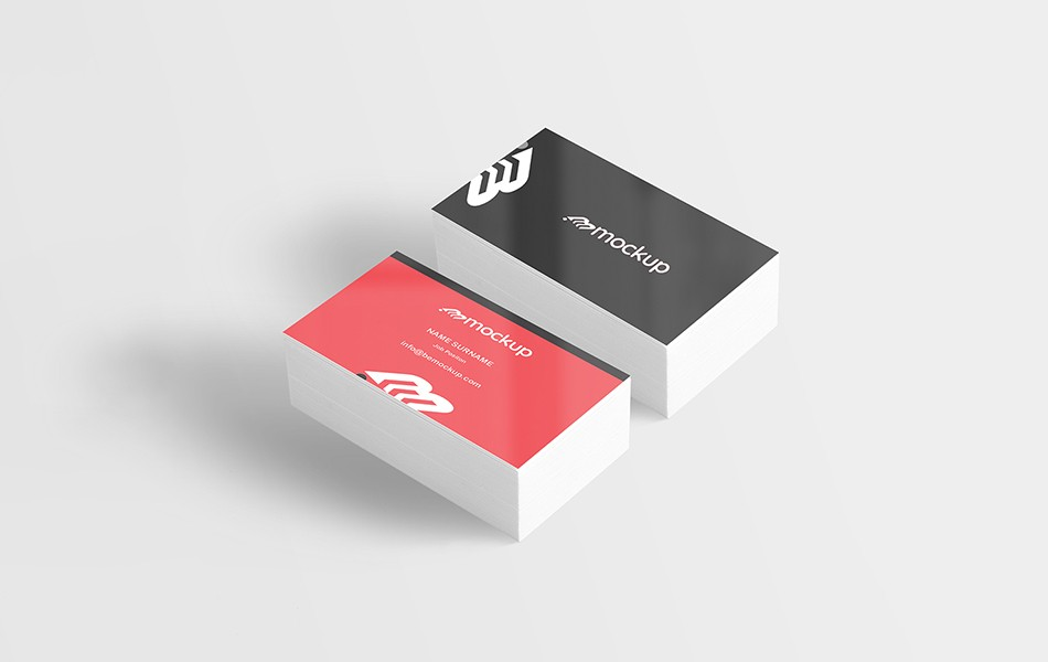 Printed Business Card Mockup