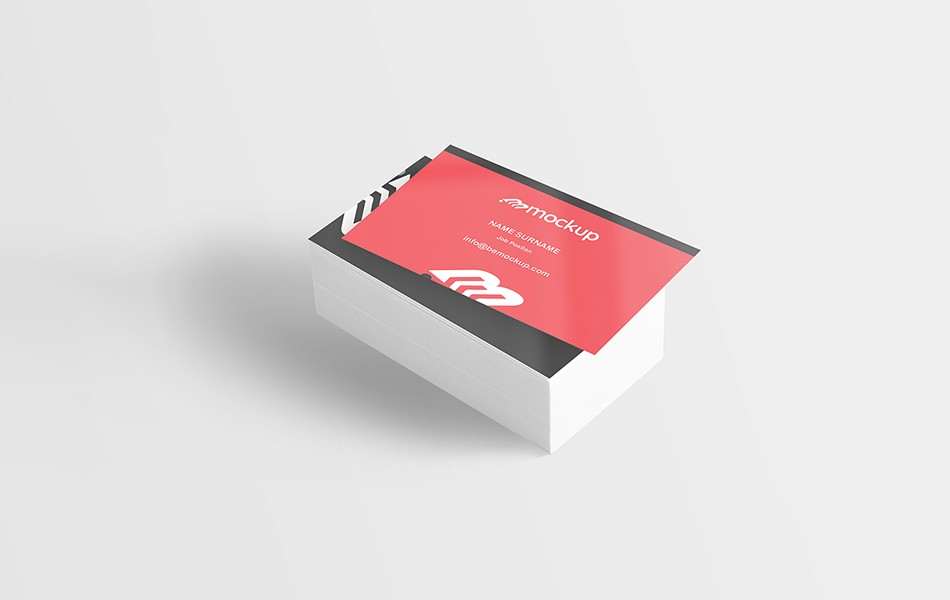 Printed Deck of Business Card Mockup