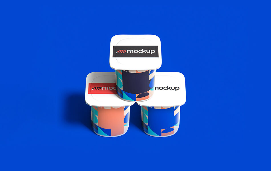 Yogurt Top View Packaging Mockup