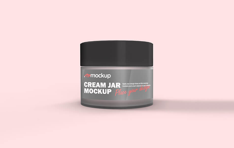 Cream Jar Cosmetic Mockup