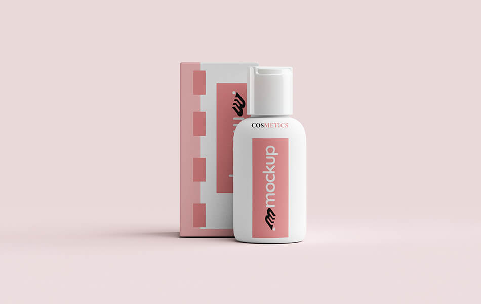 Cosmetic Small Bottle Mockup