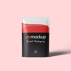 Free Sachet Packaging Mockup
