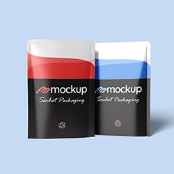 Free Sachets Packaging Mockup