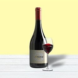 Strong Wine Bottle Mockup